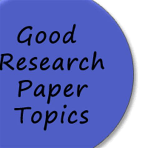 Topics for research paper